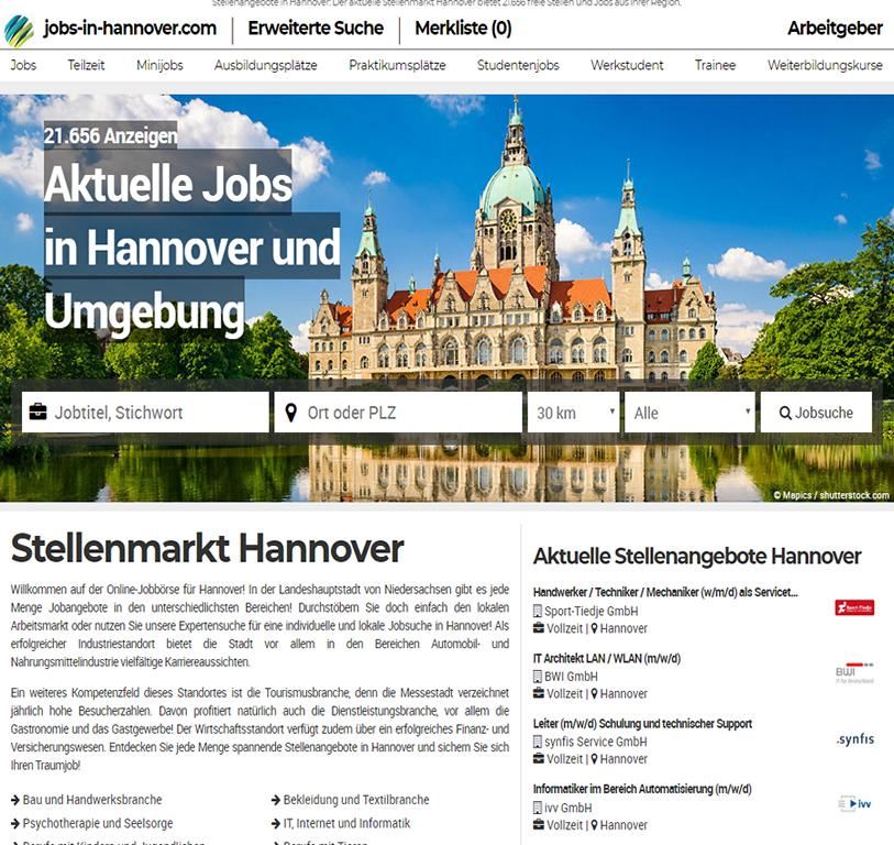 jobs-in-hannover.com - Aktuelle Jobs
