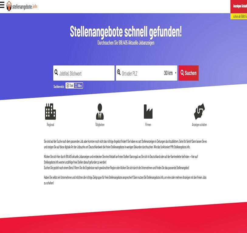 stellenangebote.info - Jobangebote aus Deutschland