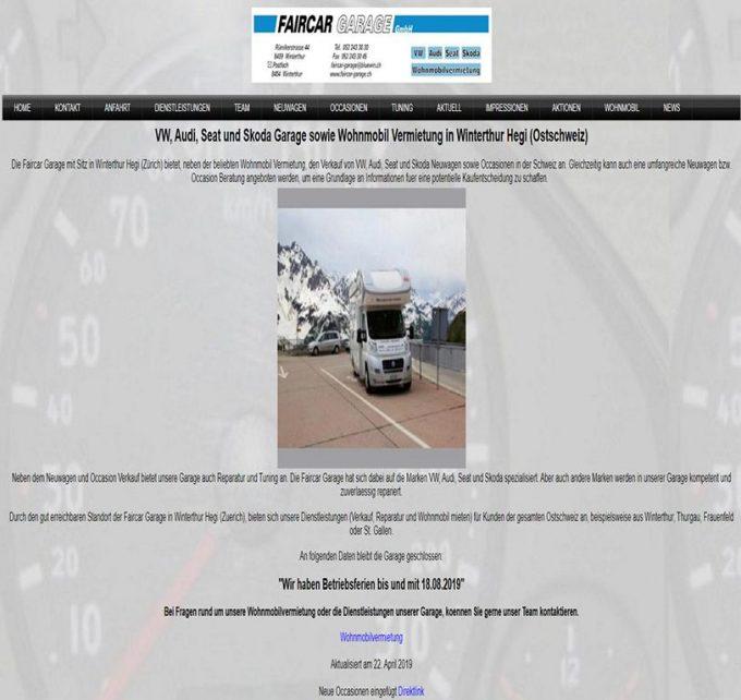 Faircar-Garage GmbH – Camper Vermietung