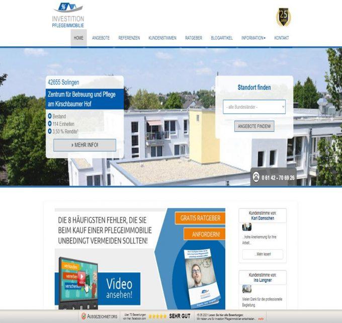 Investition Pflegeimmobilie