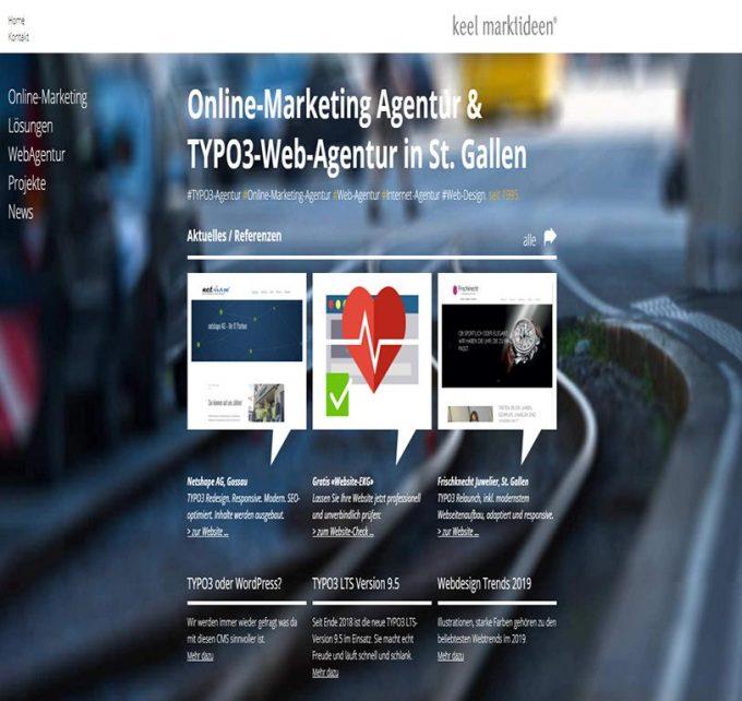 Keel Marktideen – Typo3 Webdesign