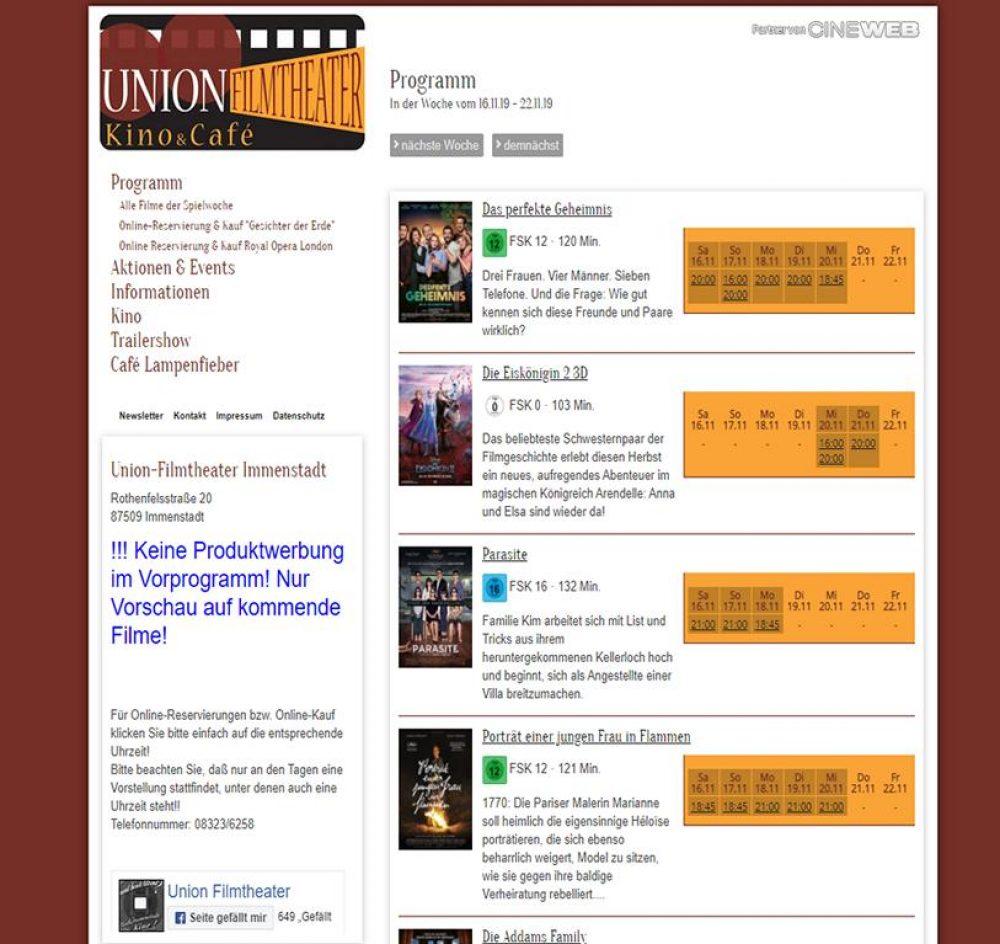 Kino Immenstadt Kinoprogramm
