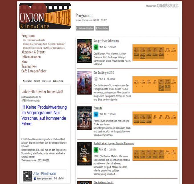 Kino Immenstadt und Cafe Lampenfieber