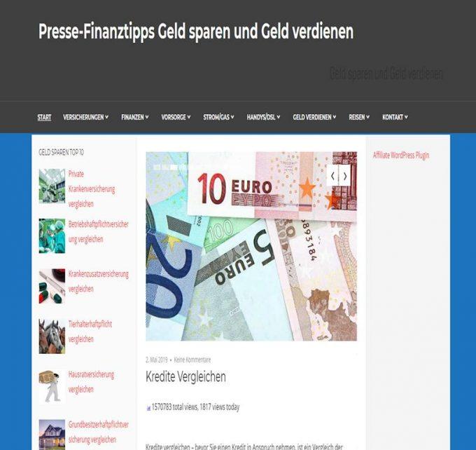 Presse-Finanztipps Geld sparen und Geld