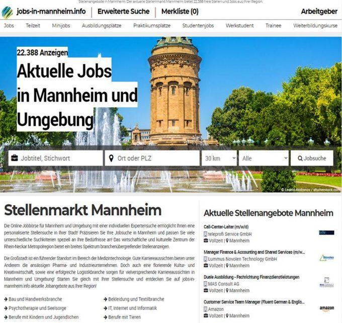 Aktuelle Jobangebote aus Mannheim